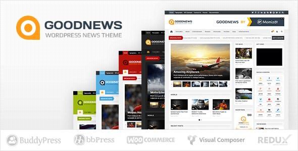 GoodNews قالب حرفه ای خبری وردپرس