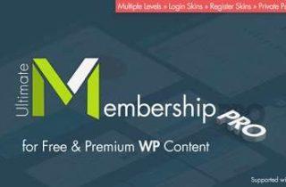 افزونه Ultimate Membership Pro اشتراک ویژه در وردپرس